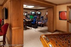 Any kid (and kid at heart) would love this home game room.