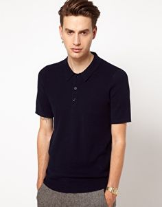 Plectrum by Ben Sherman Knit Polo Shirt