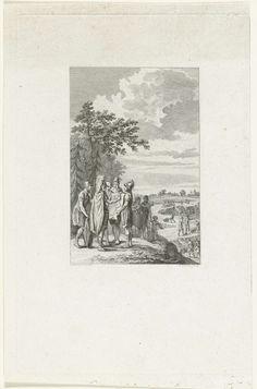 Reinier Vinkeles | Eerste bedijking door Drusus, ca. 15 v.C., Reinier Vinkeles, 1797 - 1799 | De eerste bedijkingen in Nederland uitgevoerd door Drusus, veldheer en stadhouder van de Romeinse provincie Gallië.