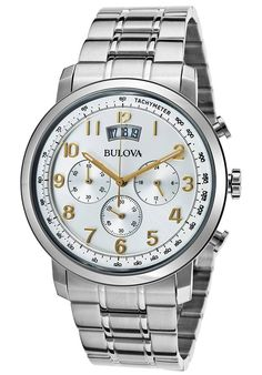Image for Men's Dress Chronograph Stainless Steel Silver-Tone Dial from World of Watches