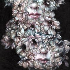 "Marco Mazzoni, ""Comma, dedicated to V"" 2015 (colored pencils on paper, cm41x31 'LAX / DTW' – Thinkspace Invades Detroit"