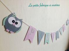 Guirlande prénom 7 lettres en papier sur ruban en coton : Décoration pour enfants par la-petite-fabrique-a-sourires