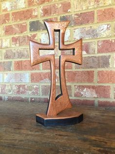 Floating From Within Cross in Sapele