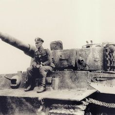 SS officer Hscha Haak is pictured here sitting on Tiger 1 nr. 142 from 103 s.SS-PzAbt during training in Wezep, Netherlands during the Spring of 1944