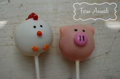 Farm Animal Cake Pops by SimplyPoshbyMel on Etsy, $30.00