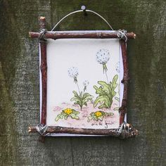 Oh the joy of picking a perfectly full dandelion, breathing in deep and blowing all the seeds out into the sky! Your painting is nesting in a handmade, natural wood frame (made from found objects).  Your adorable new painting can rest in the palm of your hand, just measuring around 2.5 x 3.  This piece is part of the Tiny Paintings Series. Tiny paintings are just a few of my favorite things in portraiture style. Think of a portrait of rain drops on roses or whiskers on kittens.  I like to…