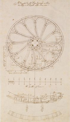 ARCHITECTURE: This is one of the earliest architectural drawings in the RIBA Collections. It's a design for a Rose Window by Robert Smythson drawn in Smythson was one of Britain's first professional architects. Rome Architecture, Architecture Drawings, Historical Architecture, Rose Window, Art Ancien, Love Drawings, Gothic Art, Watercolor Projects, Geometric Art