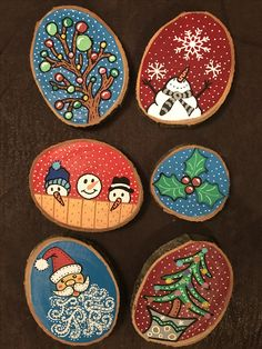 33 Inspiring Winter Ornaments For Your Home Decor – Crafts Ideas Painted Ornaments, Wooden Ornaments, Diy Christmas Ornaments, Homemade Christmas, Christmas Decorations, Christmas Ideas, Fabric Ornaments, Wood Slice Crafts, Wood Burning Crafts