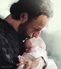 Rick & baby, Judith fan art