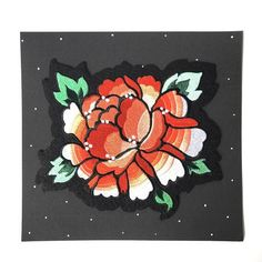 Stay Home Club Burst and Bloom Iron-On Back Patch