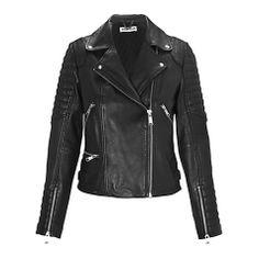 Buy Whistles Ziggy Leather Biker Jacket, Black Online at johnlewis.com  Design Manteaux Femmes 653fd24aa243