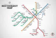 Boston T restaurant map