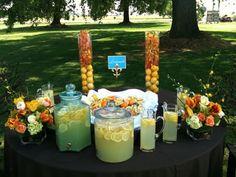 Lemonade set up--pretty