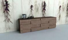 CHESS SIDEBOARD WITH SLIDING DOORS