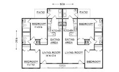 Simple Small House Floor Plans | duplex plan, J891d floor plan