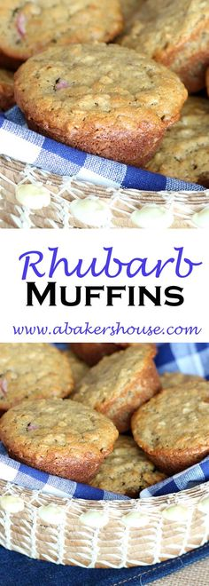 Rhubarb and Oat muffins are a Whole Foods recipe that let's you give baking with rhubarb a try this season. Rhubarb Muffins, Oat Muffins, Baking Muffins, Gluten Free Muffins, Gluten Free Snacks, Foods With Gluten, Gluten Free Cooking, Fruit Recipes, Muffin Recipes