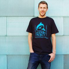 Men's Dolphin Project Logo Tee  Black  25% of the purchase of this t-shirt will be donated directly to Ric O'Barry's Dolphin Project, helping to support Ric O'Barry's conservation efforts world wide.