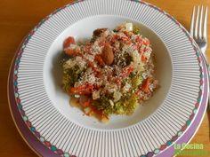 Receta de brócoli con pimientos del piquillo y almendras