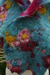Nuno Felted shawl  from Clasheen