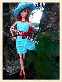 #Doll #Barbie #Calça #Pantalón #Chapéu #Pants #Hat #Curse #Bolsa #Blusa #Sombrero #Blusa #FioAnne #Top #RaquelGaucha