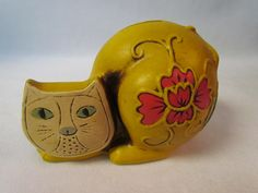 vintage mid century cat bank after lisa larson and baldelli