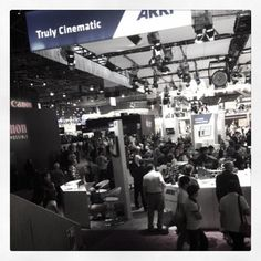 #NABShow Central Hall is hoppin'!