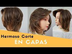 CORTE EN CAPAS | CABELLO CORTO | LEONARDO RAMIREZ - YouTube