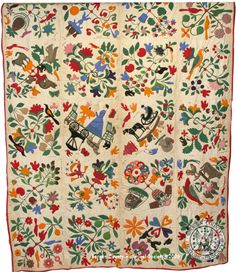 Haring Appliqué Quilt. Reminds me of the Bird of Paradise quilt AKA Civil War Bride quilt.