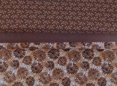 Stoffpakete - 582 Stoffpaket Jersey Herbstblumen Braun Beige - ein Designerstück…
