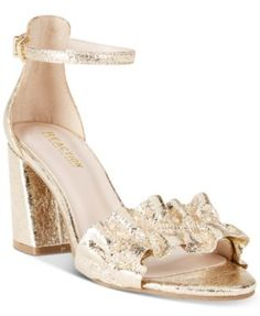 51981d141fa Kenneth Cole Reaction Women s Rise Ruffle Block-Heel Sandals - Pink 8.5M  Summer Fashion