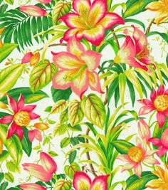 Tommy Bahama Outdoor Fabric- Botanical Glow Tangelo