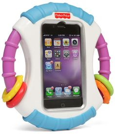 Laugh & Learn Apptivity. From ThinkGeek Baby iPhone Case. Too Funny. I kinda want this for myself - hee hee.