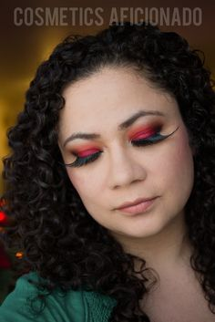 sugarpill, red, smoky eye, smoky eye friday, red smoky eye, makeup, beauty, bold, via @CosmeticsAficionado
