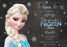 Frozen birthday party invitation design by Very Cherry Design Studio Stationery Design, Invitation Design, Invitations, Frozen Birthday Party, Rsvp, Cherry, Studio, Disney Princess, Celebrities