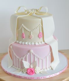 Awesome Vintage Baby Shower Cake.