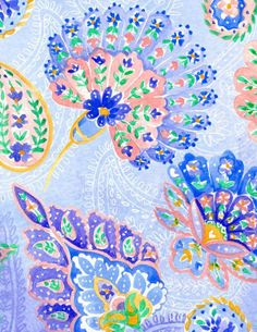 Ombre Paisley by Charis Harrison | Feelin Groovy Inspiration