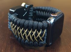Apple Watch Band, Paracord Apple Watch Strap, 550 Cord Apple Watch Strap, IWatch Band, Apple Watch A Apple Watch Bracelets, Bracelet Watch, Apple Watch Bands Mens, Apple Watch Men, Paracord Watch, 550 Paracord, Apple Watch Sizes, Swiss Watches For Men, Apple Watch Accessories