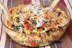 The Slow Roasted Italian - Printable Recipes: Roasted Vegetable Penne Pasta