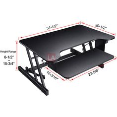 "Ergonomic Adjustable Sit-Stand Desk Monitor Riser Workstation  *Adjustable Height Range: 6-1/2"" to 15-3/4"""