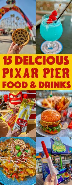 """The post """"The best Pixar Pier Food & Drinks at Disneyland's new Pixar Pier. From Lobster Nachos to Jack Jack's Num Num Cookies, these are the can't miss foodie finds at Pixar Pier."""" appeared first on Pink Unicorn Comida Disneyland, Best Disneyland Food, Disneyland Hacks, Disneyland Secrets, Disney California Adventure Park, Disneyland California, California California, Pixar, Disney Snacks"""