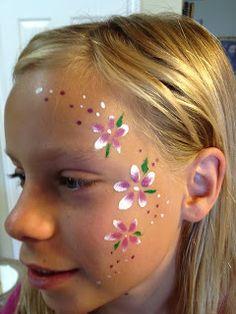 Flower design face paint