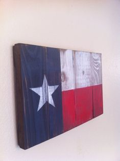 Small Texas State Flag Wall Art on Etsy, $29.00