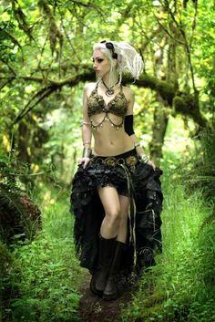 steampunk + tribal bellydance modeled by Kato