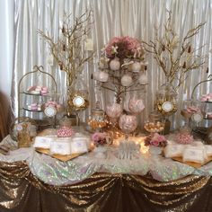 Our pink and gold theme
