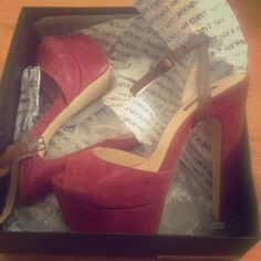Shoemint's Bianca Shoe Size 8 A beautiful cranberry suede 5.5 inch heel with a 1.5 platform. Never been worn. Comes with original packaging. Perfect for the holidays. Shoemint Shoes