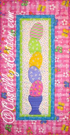 Tippy Eggs Quilted Wall Hanging by castillejacotton on Etsy, $49.00