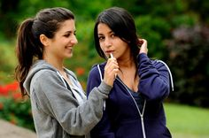 Leila Bekhti and Geraldine Nakache - not quite so glamour in the 2009 film Tout ce qui brille which have made both of them famous