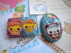 Kawaii Resin Charms by ~puccilaand on deviantART
