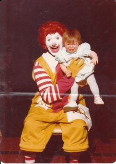 Ronald was one of the reasons I developed a fear of clowns.