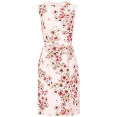 Giambattista Valli Floral-Printed Silk Dress ($1,910) ❤ liked on Polyvore featuring dresses, multicoloured, flower print dress, multi color dress, floral printed dress, pink floral dress and pink silk dress